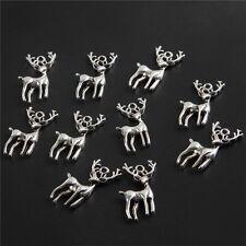 10pcs Deer Stage Giraffe Bead Tibetan Silver Charms Pendant DIY Bracelet 16*28mm