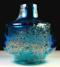 Vintage German Glass Vase Air Bubble Design Circa 1960