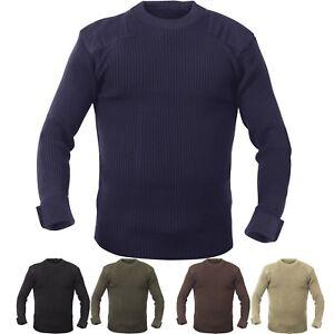 Crew Neck Acrylic Military Sweater Uniform Army Commando Thick Warm Winter
