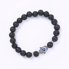 Hamsa Khamsa Evil Eye Hand of Fatima Charm Beads Bracelet Chain Jewelry Fahion