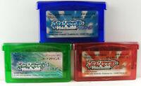 Game Boy Advance GBA - Games Bundle - Saphire, Emerald, Ruby - Japan Import