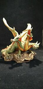 Very rare Features Ltd Triwarfin Blewfire Limited edition resin 3 headed Dragon