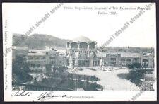 TORINO CITTÀ 497 ESPOSIZIONE 1902 ARTE DECORATIVA MODERNA Cartolina viagg. 1902