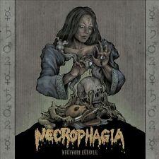 "NECROPHAGIA ""WHITE WORM CATHEDRAL"" BLACK VINYL DOUBLE LP NEW"