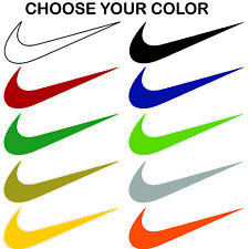 Nike Swoosh Vinyl Die Cut Decal Sticker Window Phone Laptop Helmet Wall Bumper