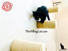 Floating sisal cat step, cat wall, sisal step, cat furniture, cat shelf