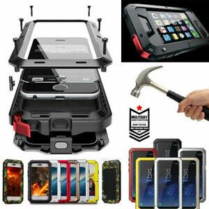 HEAVY DUTY Shockproof Waterproof  Metal Cover Case iPhone 12Pro Max 11Pro XR 8 7
