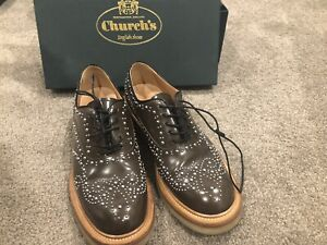 Church'sSheryl lace up derby shoes brown leather rubber sole