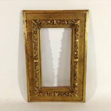 46 x 31 cm Gemälde Bilderrahmen Antique Impressionismus Frame Barock Goldrahmen