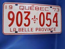 QUEBEC LICENSE PLATE 1973 903 054  VINTAGE CANADA MUSCLE CAR GARAGE SHOP SIGN