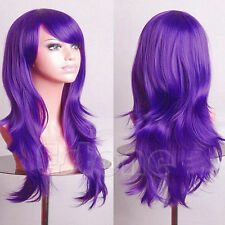 Women Long Hair Full Wig Curly Wavy Synthetic Anime Cosplay Party Wigs