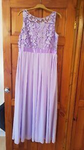 Lilac Lacy/Chiffon Bridesmaid/Prom Dress Size 16 - NWT