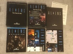 Leading Edge Games Aliens: This Time It's War. Rare Board Game & Expansion!