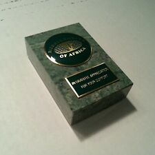 Missionaries Africa Marble Paperweight Desk Plaque Diplay Sign Gift Present