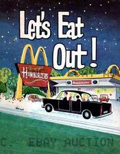 McDonalds advertisement poster Print photo vintage print  ca 8 x 10 print poster