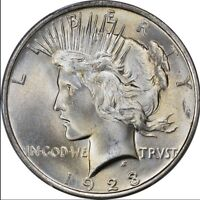 1923 Peace Silver Dollar Brilliant Uncirculated - BU