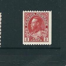 Canada Stamps 132 SG 218 2c Deep Rose Red Coil Pf 12 MNH F/VF 1915 SCV $80.00