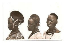 Africa, Upper Volta, Burkina Faso, HAIRSTYLE, KADO women, Real Photo, capuccinos' 30