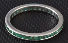 Vintage Platinum Emerald Ring Size 7.25