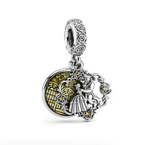925 Sterling Silver Beauty And The Beast Dangle Charm