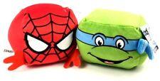 "Marvel 4"" collectible Plush Cubd Spider-man and teenage ninja turtles Leo"