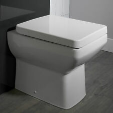 460mm Compact Short Projection Back To Wall Square Toilet 46cm Small Mini WC