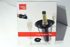 Vacu Vin Champagne Set - Bottle Opener + Cooler + Saver - Gift Box