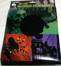 "HALLOWEEN Creepy Cloth   30"" x 60""  BLACK CLOTH"