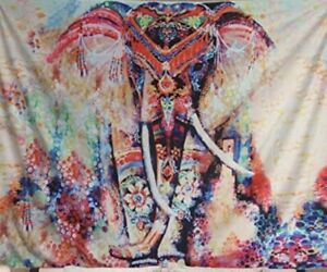 Mandala Elephant Tapestry Indian Wall Hanging Art Decor Psychedelic Hippie
