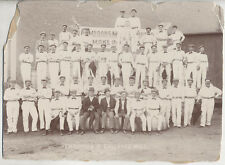 1897 PORTRAIT OF CAMERONS MILL EMPLOYEES WEARING MATCHING WHITE