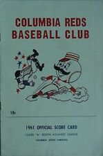 "1961 COLUMBIA REDS PROGRAM (""A"" SOUTH ATLANTIC LEAGUE) + TICKET / RAIN CHECK"