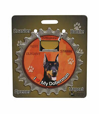 Doberman Pinscher dog coaster magnet bottle opener Bottle Ninjas magnetic