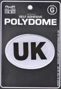 UK - Oval Sticker Car Camper Van Lorry Truck Self Adhesive Vinyl Polydome