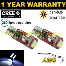 2x W5W T10 501 Errore Canbus libero BIANCO 5 SMD LED Luce Laterale Lampadine Bright sl104403