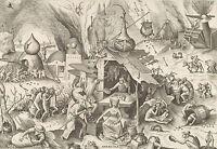 Framed Print - 7 Deadly Sins GREED by Pieter Bruegel the Elder 1558 (Picture)