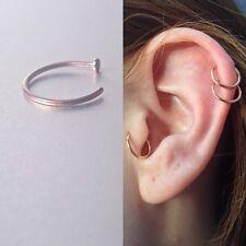 8mm Rose Gold Nose Ring Hoop Cartilage Hoop Earrings Septum RingTragus Nose Ring