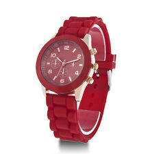 Colorful Women Men Geneva Silicone Jelly Gel Quartz Analog Sports Wrist Watch GH