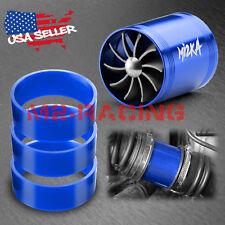 "Mi2KA Turbine Air Intake Fuel Gas Saver Double Fan System Turbo 2.5""-3.0"" Blue"