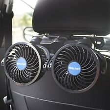 Car Fans Auto Cooling Fan Headrest 2 Speed Controller Cigarette Lighter Plug In