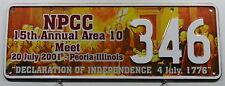 Nummernschild Australien N.P.C.C Treffensschild Illinois Peoria 2001.10266