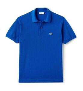Lacoste Polo Shirt BNWT size XL (6) Mens Classic Fit L1212 Blue Cotton Genuine