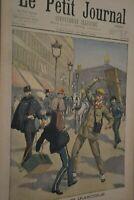 Un anglais irascible / Le petit journal sup illustré N°496 / 20 mai 1900
