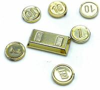 LEGO LOT OF GOLD COIN PIECES MONEY ACCESSORIES PIRATE & GOLD BAR PARTS