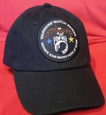 Warriors Watch Riders USA Veterans & USA Supporters Solid Black Unstructured hat