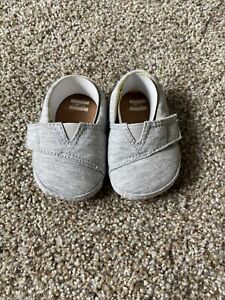 TOMS Baby Shoes; Gray - size US 2