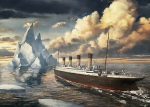 RMS Titanic Iceberg Maritime History Painting Wall Art Poster/Canvas Picture