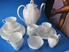 PORZELLAN SET KRONE KAFFEE TEE SERVICE Teetassen Unterteller Kaffeetassen WEISS