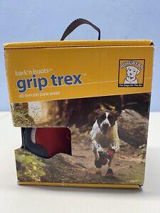 New RuffWear Bark 'n Boots Grip Trex All Terrain Paw Wear Vibram Red Size S 3M.