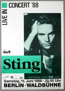 STING The Police – rare original 1988 NOTHING LIKE THE SUN concert poster
