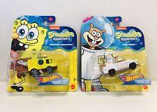 Hot Wheels Spongebob Squarepants & Sandy Cheeks, NEW. 2019 Mattel.
